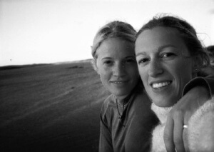 Anna and Lena 2001. On a hitch hiking trip somewhere on the west coast of Sweden.